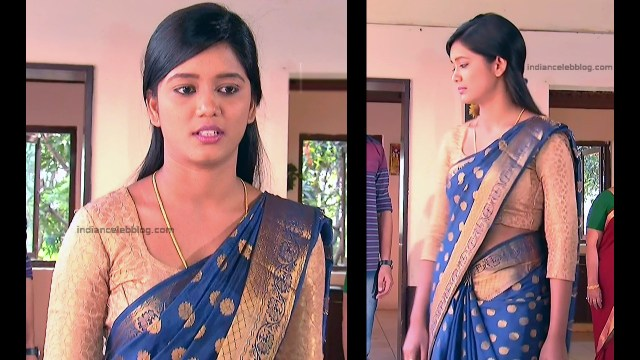 Telugu TV Actress ETV AbhiS_5_Hot Saree navel pics