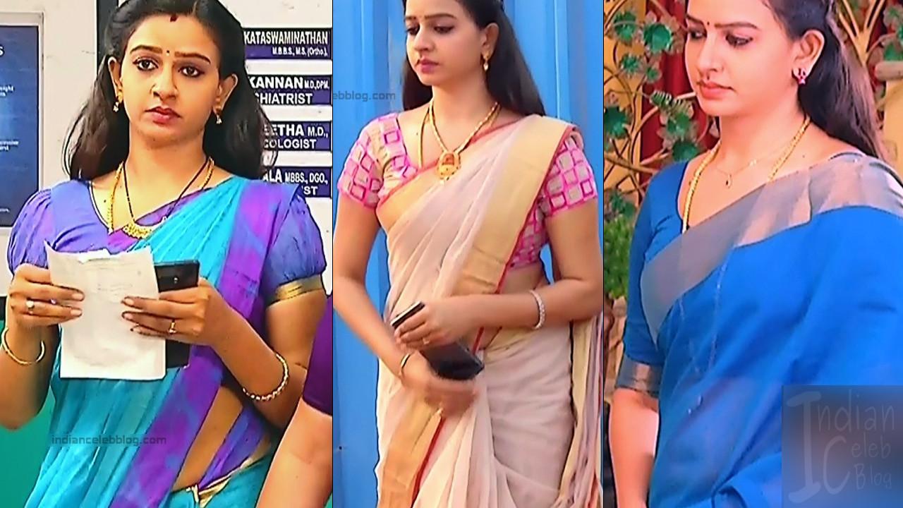 Divya Tamil tamil tv actress hot caps in sari