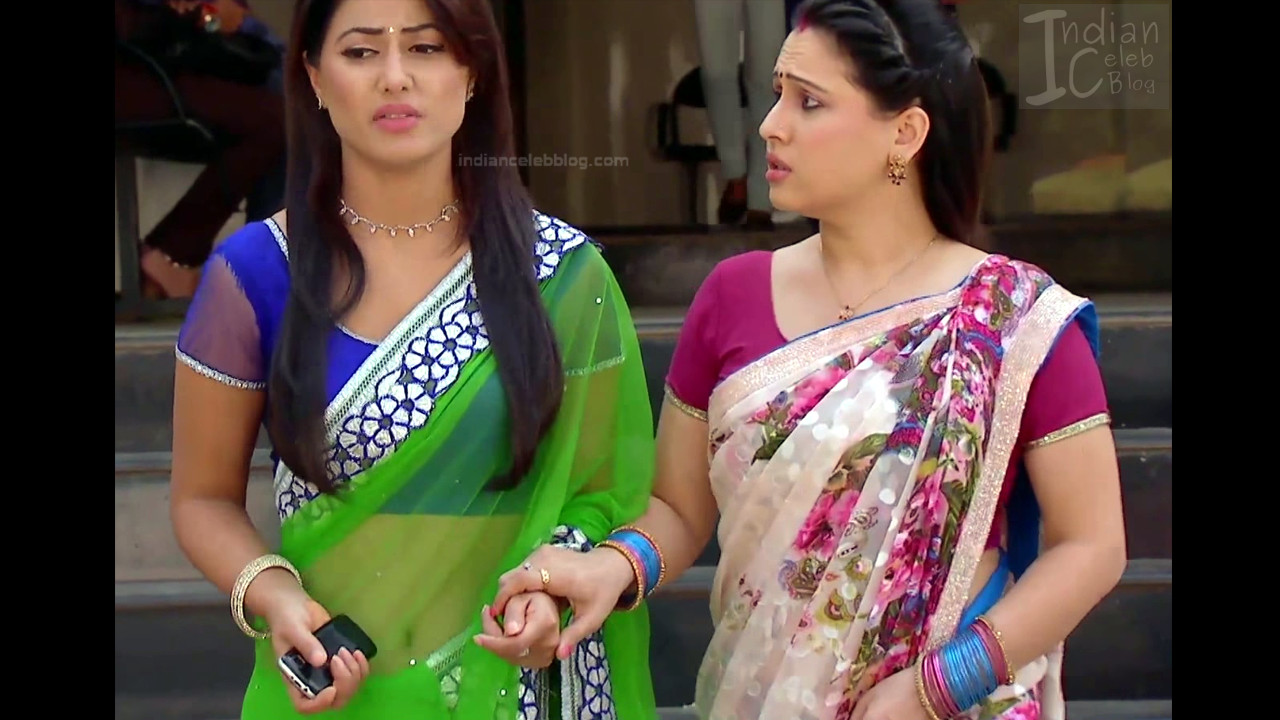 Hina Khan_Hindi TV Actress_1_Hot Sari photos