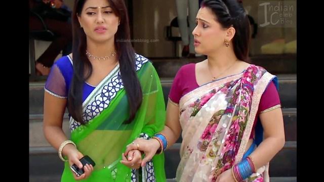 Hina Khan_Hindi TV Actress_1_Hot Sari photos