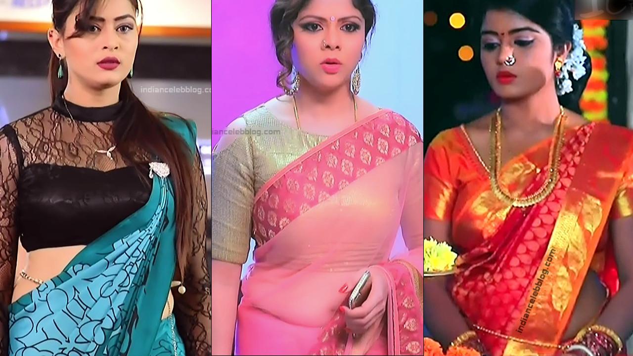 Kannada TV actress hot saree navel show - hd caps