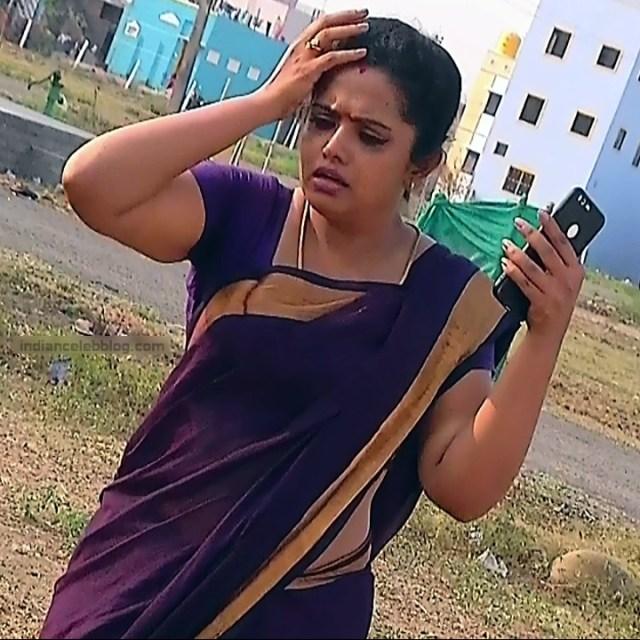 Sudha Tamil TV Actress Mahalakshmi S2 6 Hot Saree Photos