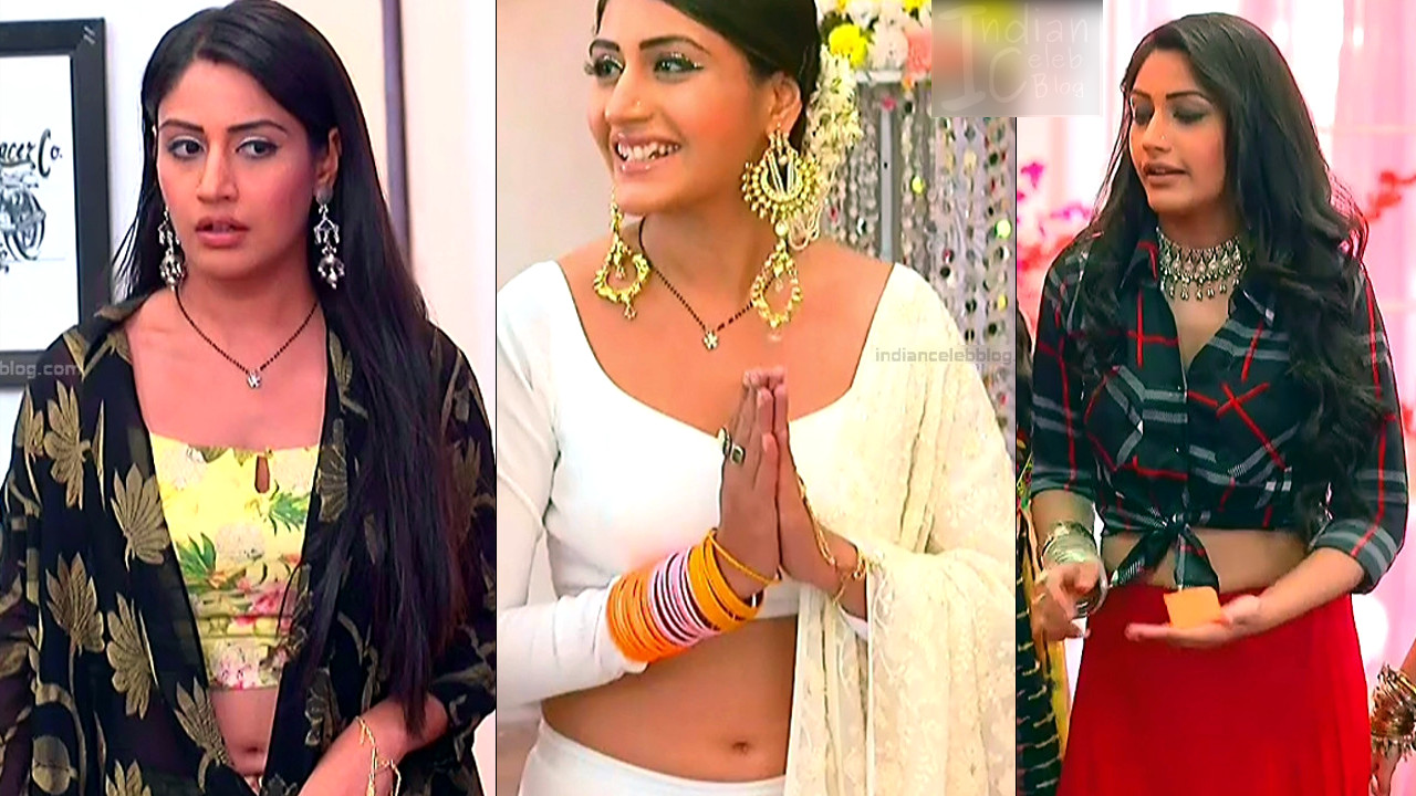 Surbhi Chandna sexy backless and navel show Tv caps Ishqbaaz