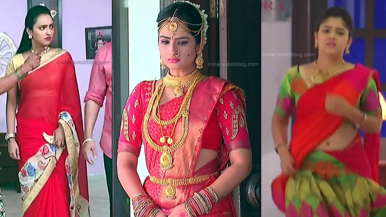 Telugu TV actress hot saree navel caps