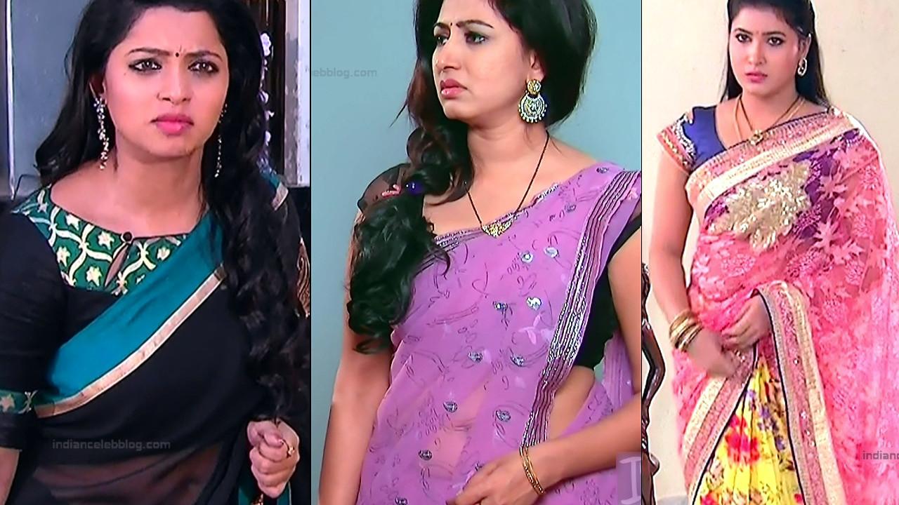 Telugu tv actress saree navel show compilation gallery