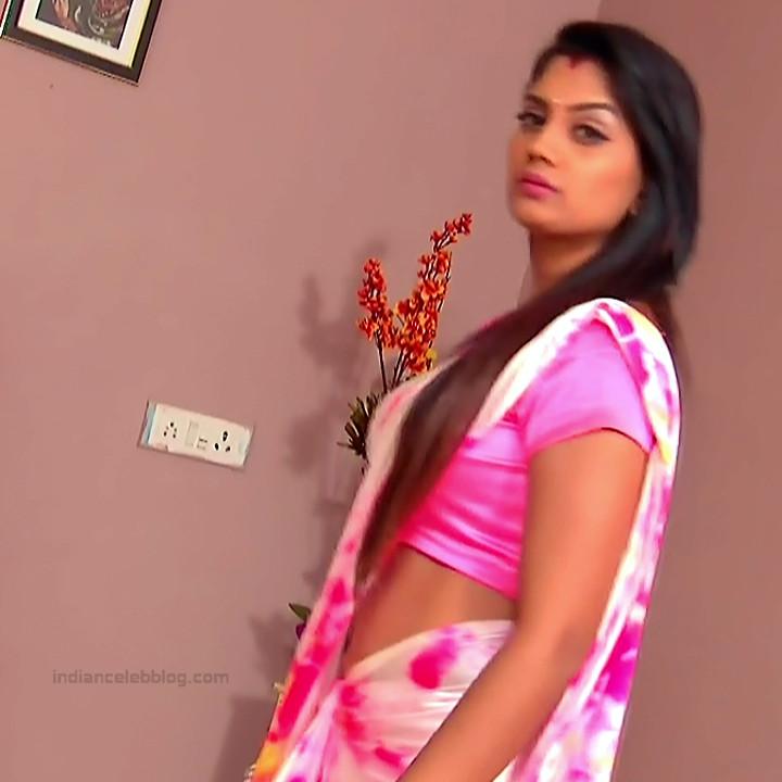 Karuna Telugu serial actress AbhiSS2 10 hot saree photos