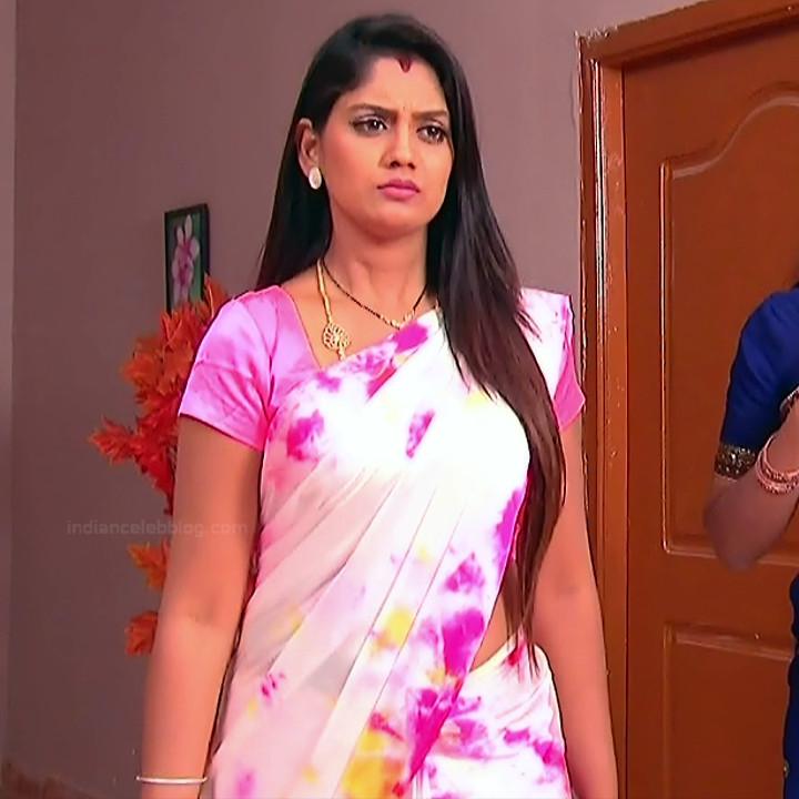 Karuna Telugu serial actress AbhiSS2 13 hot saree photos