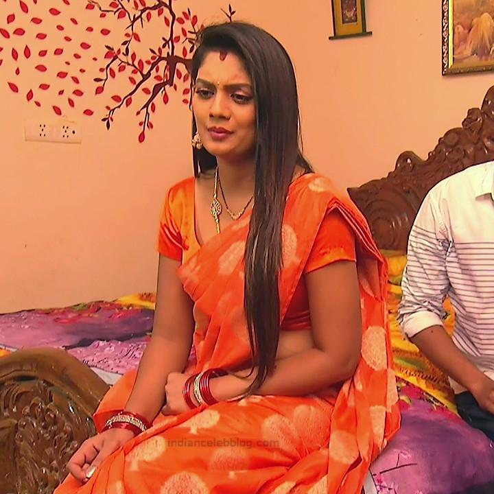 Karuna Telugu serial actress AbhiSS2 3 hot saree photos