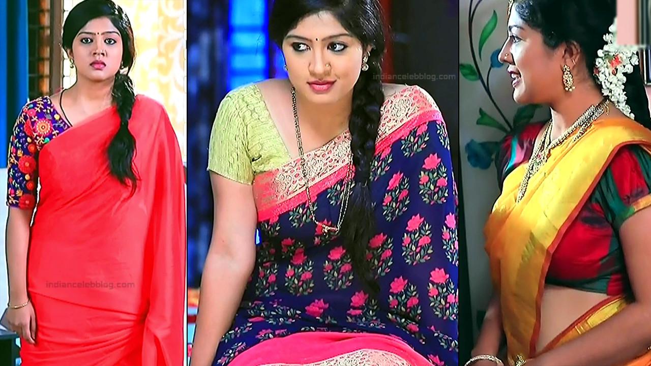 Meghana Shankarappa kannada tv sari caps