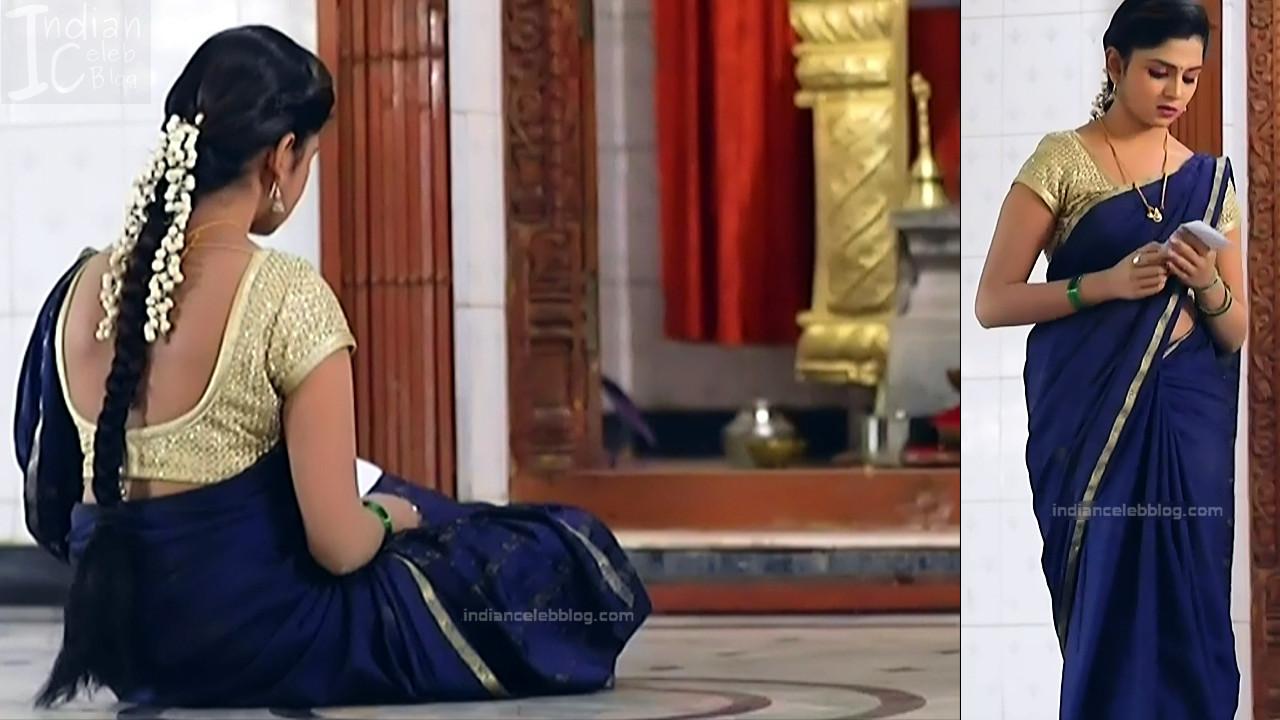 Raksha Gowda Kannada TV serial actress PutMS1 12 Saree Photo