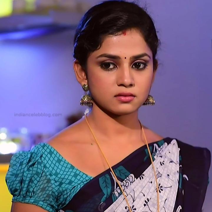 Raksha Gowda Kannada TV serial actress PutMS1 3 Saree Photo