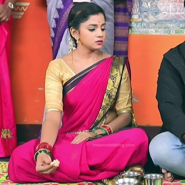 Raksha Gowda Kannada TV serial actress PutMS1 4 Saree Photo