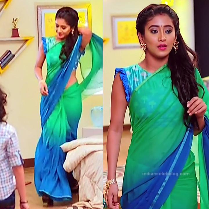 Shivangi Joshi Sexy Navel Show In Transparent Sari Hd Caps -8570