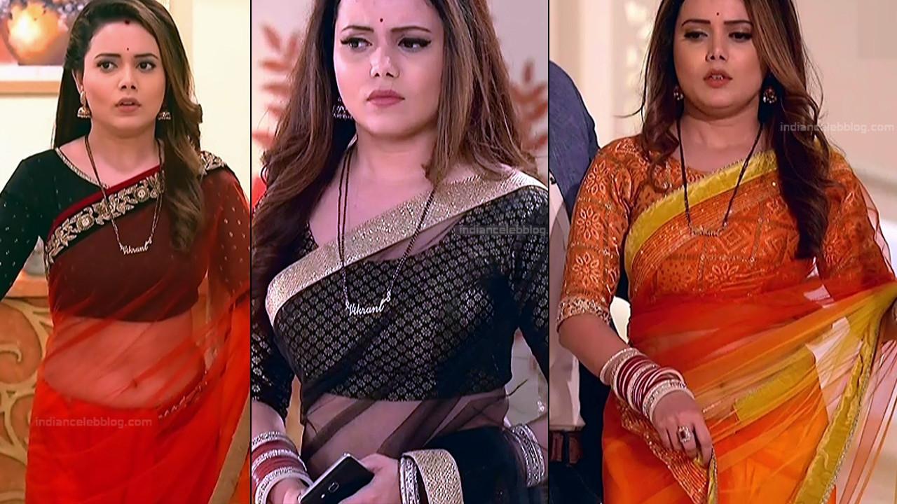 Shruti Kanwar sexy saree navel show hindi tv hd caps