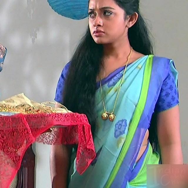 Aishwarya Meghana Telugu TV actress AgniSS2 1 hot sari pics