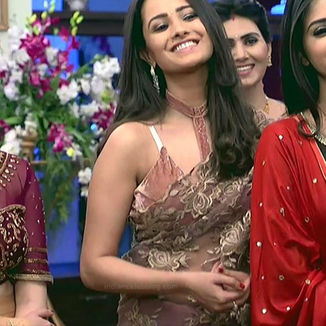 Anita Hassanandani Hindi TV actress YehHMS3 23 hot transparent sari pics