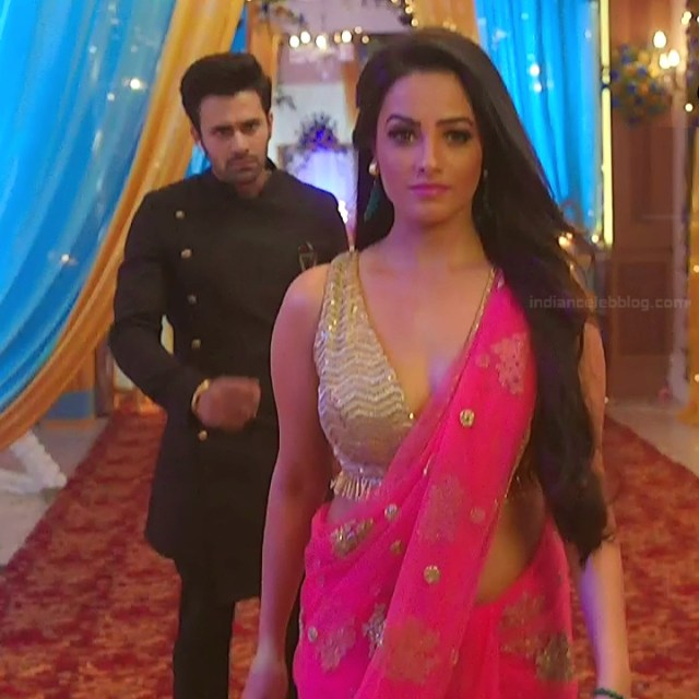 Anita Hassanandani Hindi TV actress YehHMS3 4 hot sleeveless sari pics