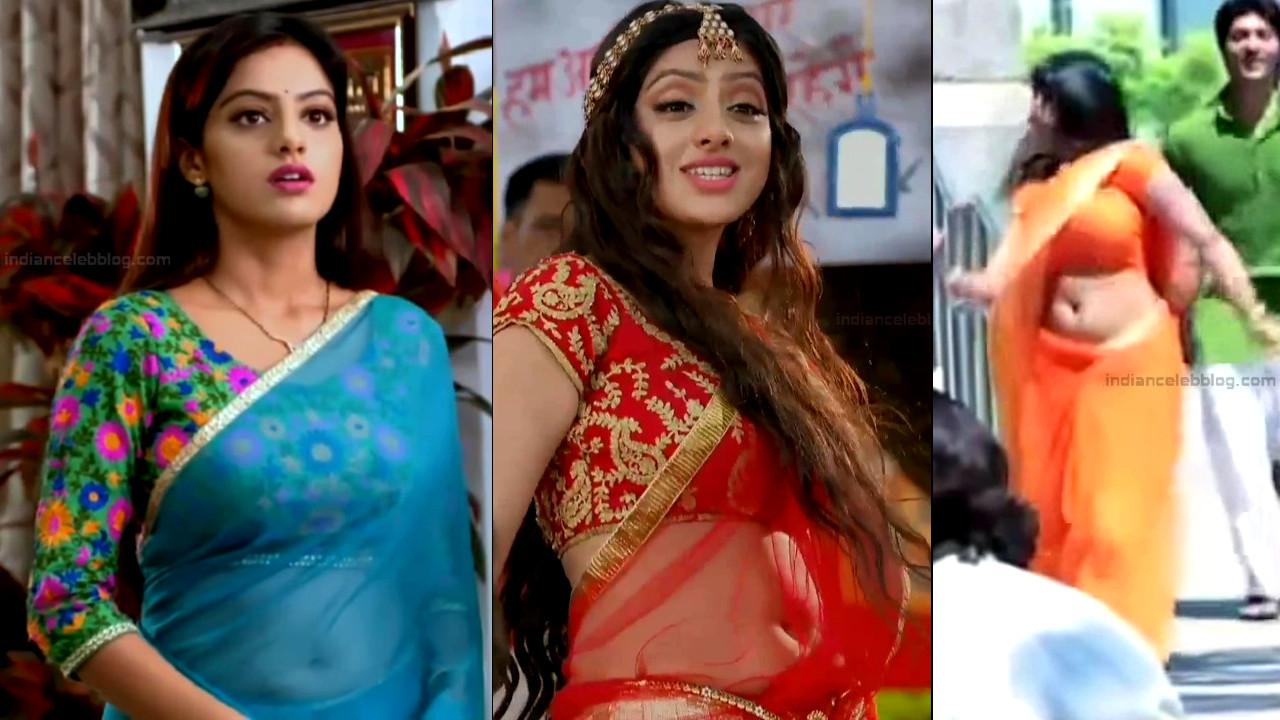 Deepika Singh sexy saree navel show HD Caps