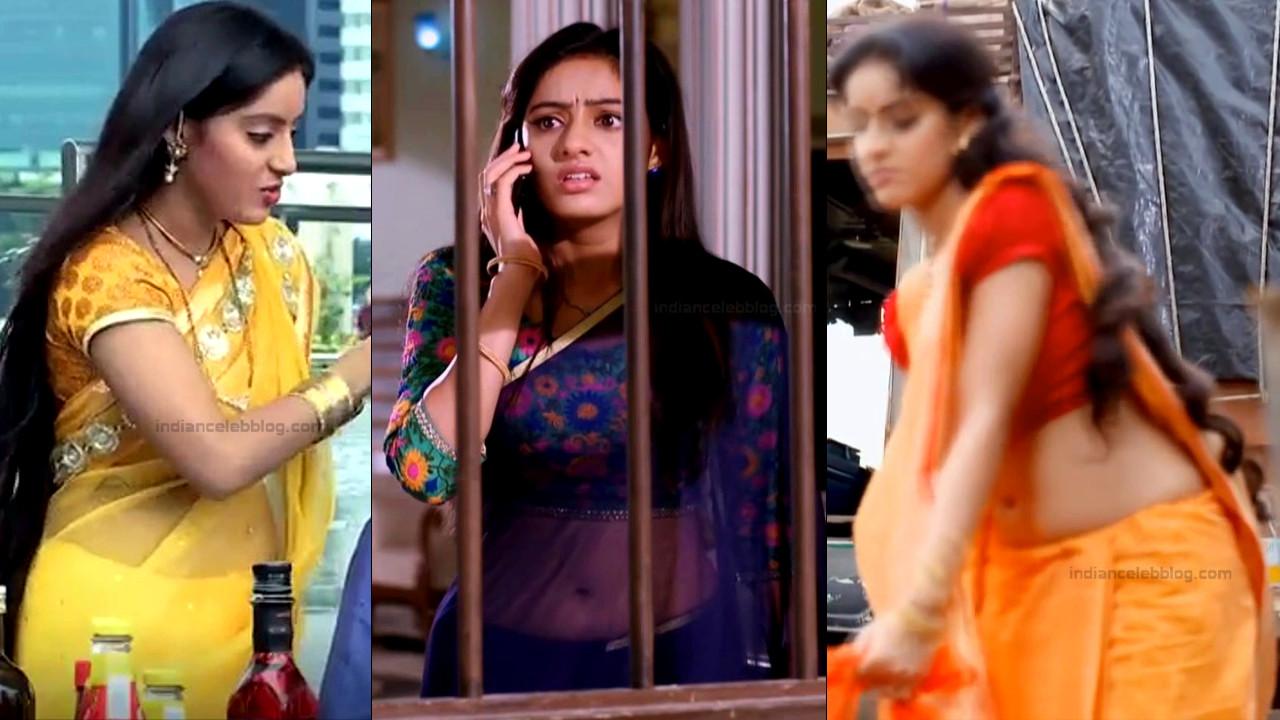Deepika Singh transparent saree navel hindi tv hd caps