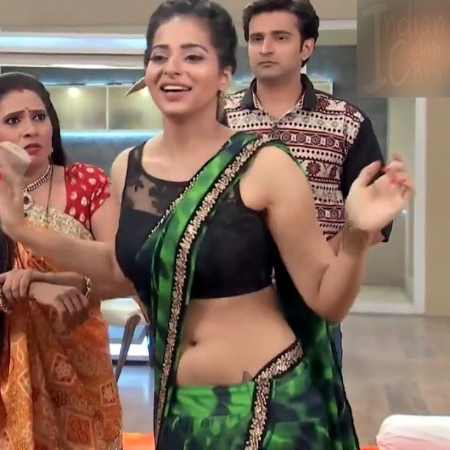 Monica Castelino Hindi TV actress CompS1 1 hot navel show photo