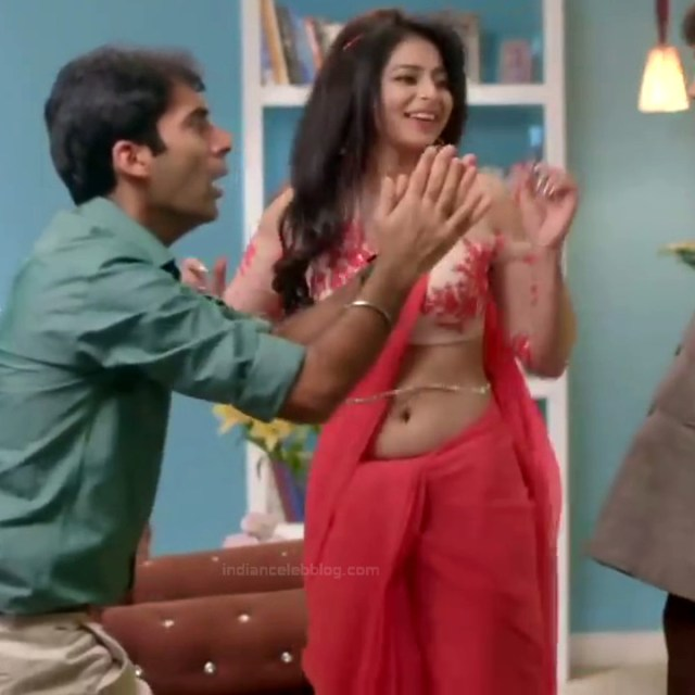 Monica Castelino Hindi TV actress CompS1 15 hot navel show in saree