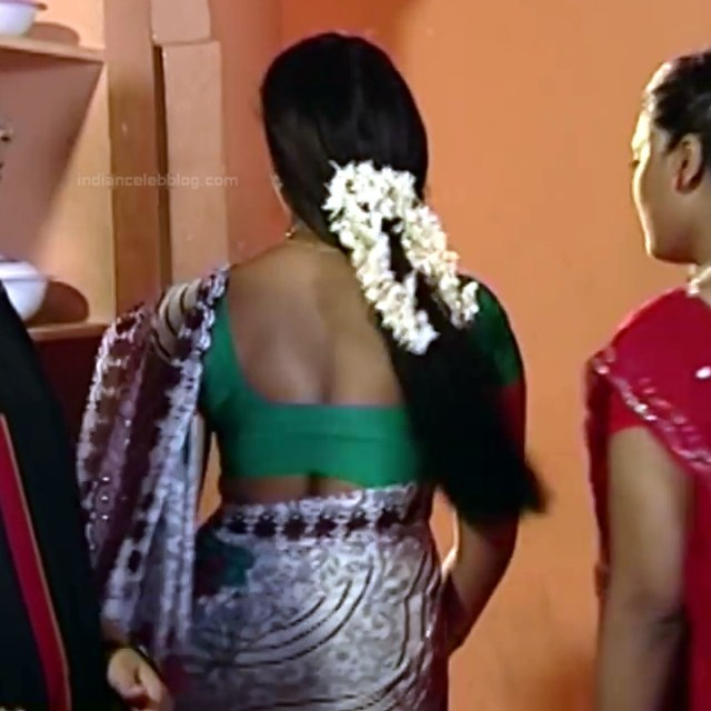 Telugu TV Actress Maa Nanna Art1-S1 7 Hot Saree Caps
