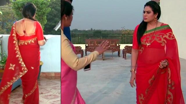 Telugu TV serial mature actress Comp2 17 hot saree photo