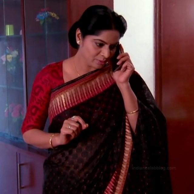 Telugu TV serial mature actress Comp2 3 hot saree photo