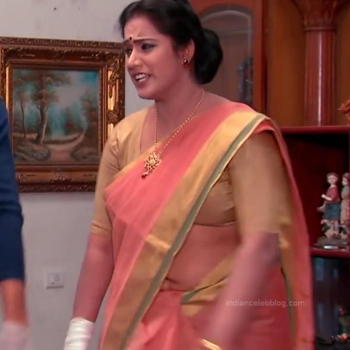 Telugu TV serial mature actress Comp2 7 hot saree photo