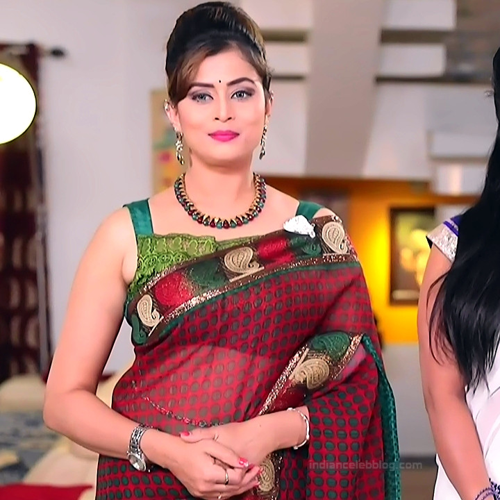 Veena Ponnappa Kannada TV Actress PutMS1 7 Hot saree pics