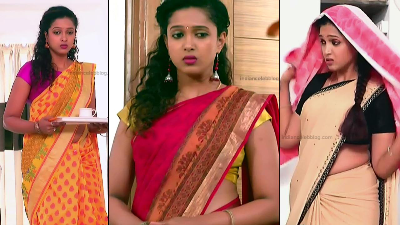Apoorva Bharadwaj Kannda tv serial hot sari caps