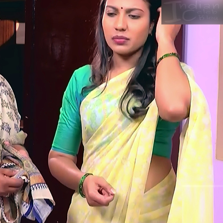Chandana Raghavendra Kannada TV Actress Sindoora S2 6 hot saree pics
