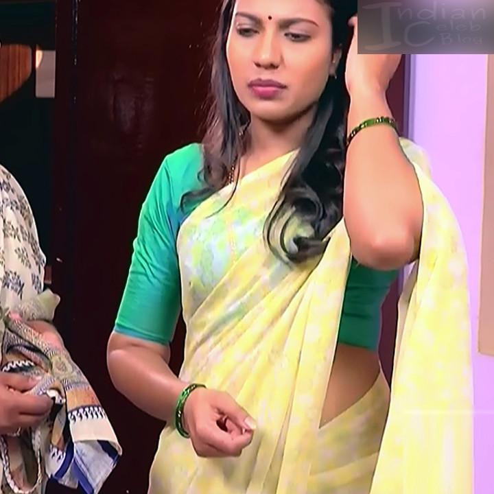 Chandana Raghavendra Kannada TV Actress Sindoora S2 6 hot saree pics