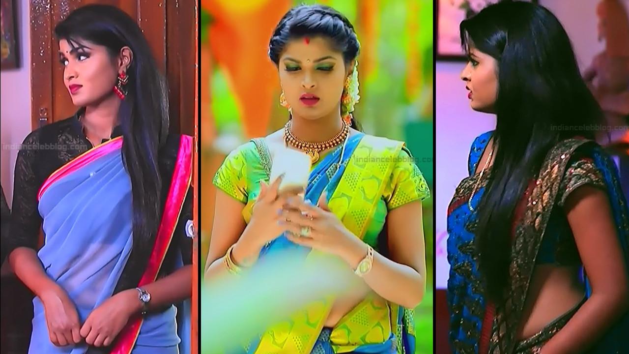 Manya anand sari navel show kannada tv hd caps