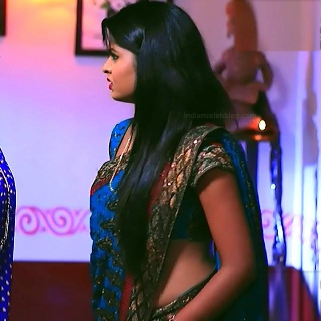 Kannada TV serial actress Bili HS1 6 hot saree caps