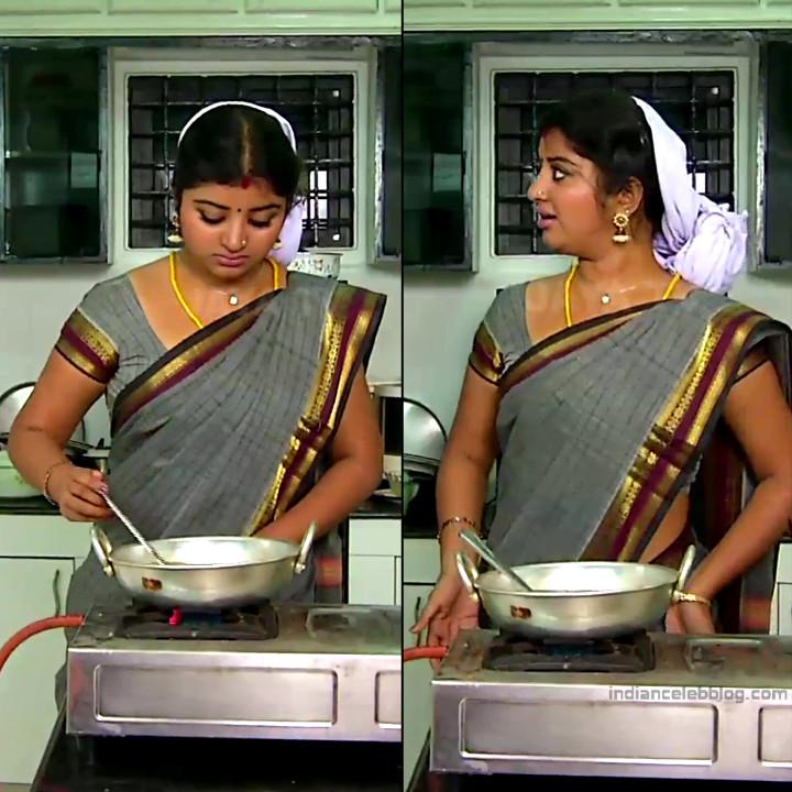Mahalakshmi Tamil TV actress RVS1 7 hot saree pics