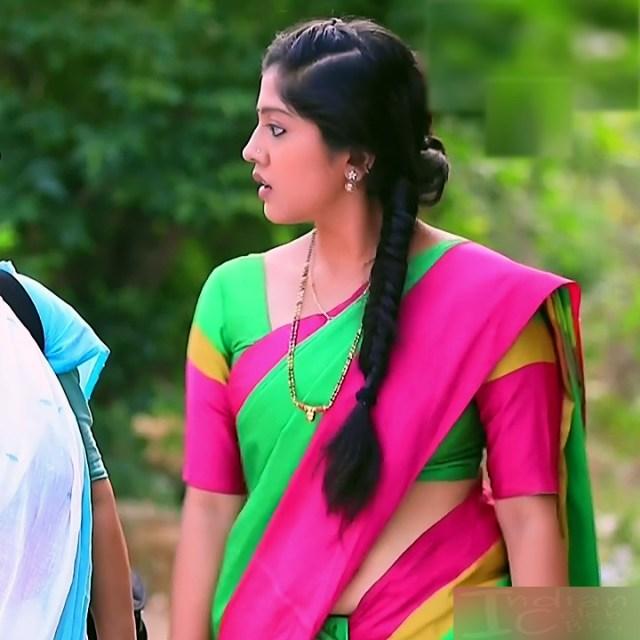 Meghana Shankarappa Kannada TV actress Kinnari S2 9 hot saree photo