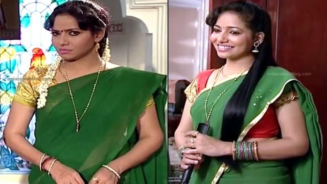 Minnal Deepa Tamil TV actress PonDTS1 11 hot saree caps