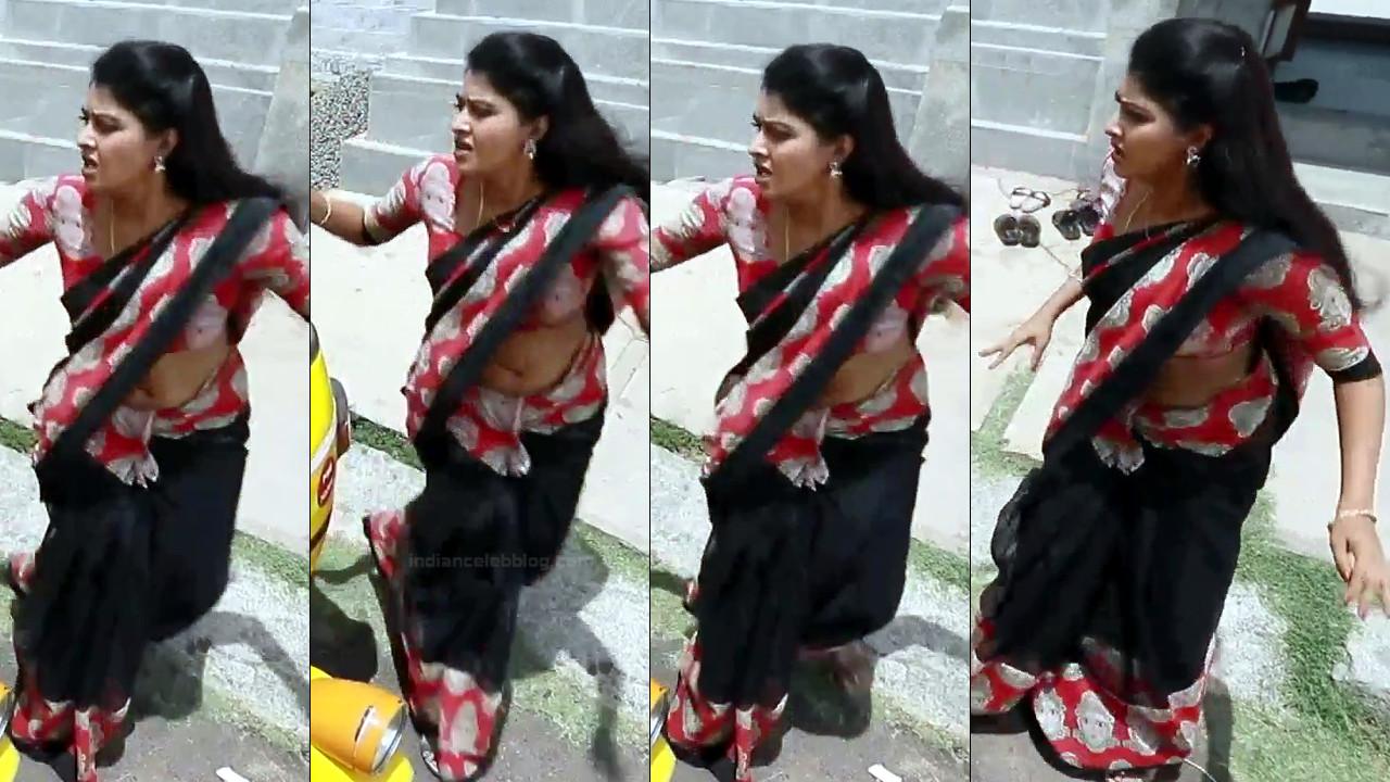 Rachitha Mahalakshmi Saravanan MS1 12 hot saree navel photo