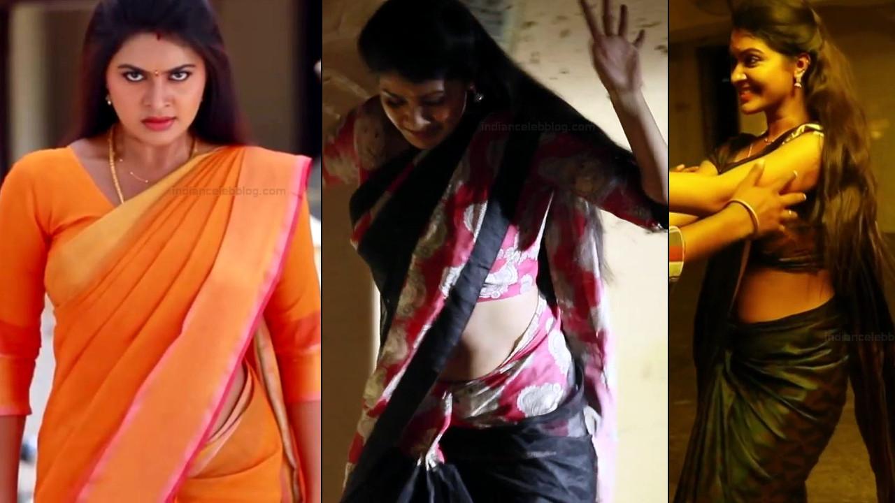 Rachitha Mahalakshmi tamil TV hot saree navel show
