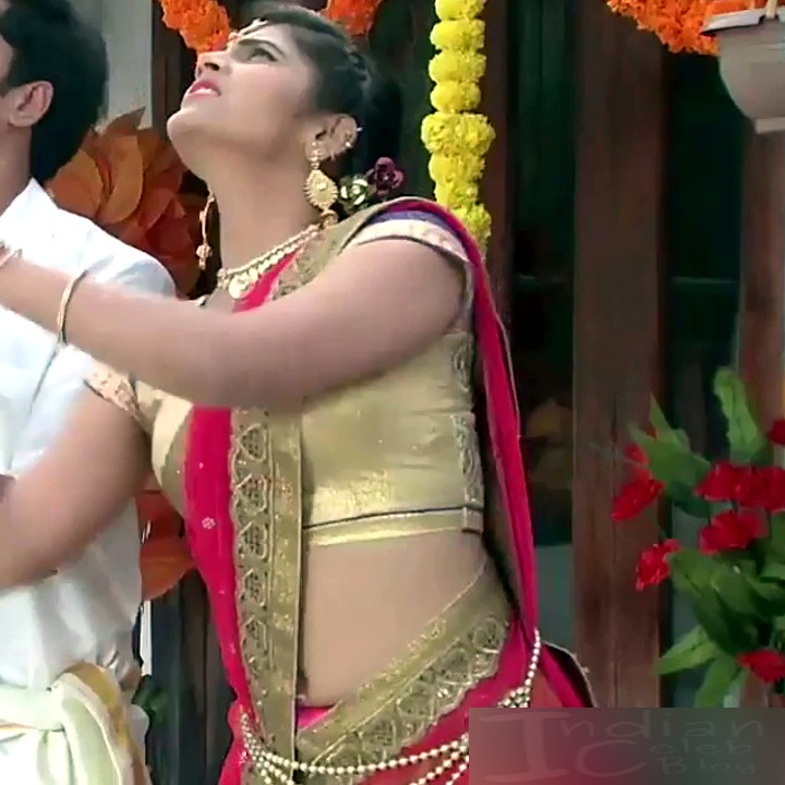 Sangeetha Kamath shravya karthika deepam actress 18 hot saree pics