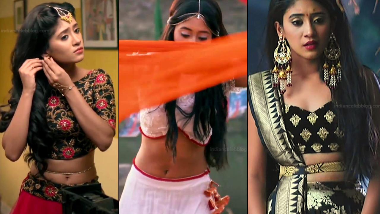 Shivangi Joshi midriff navel show tv series hd caps