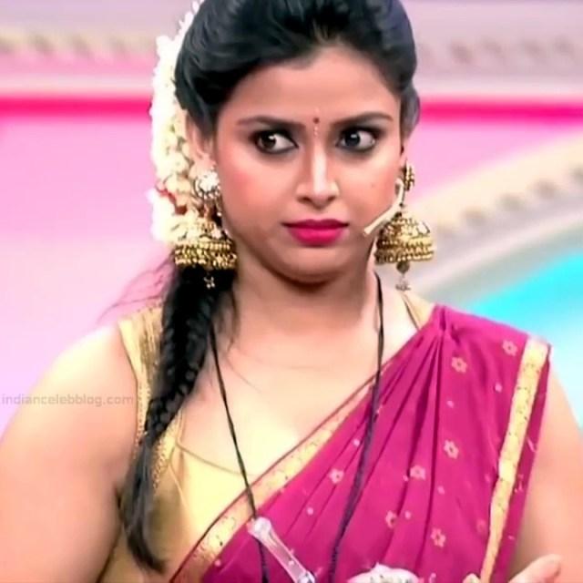 Shwetha Chengappa Kannada TV actress 15 hot saree photo