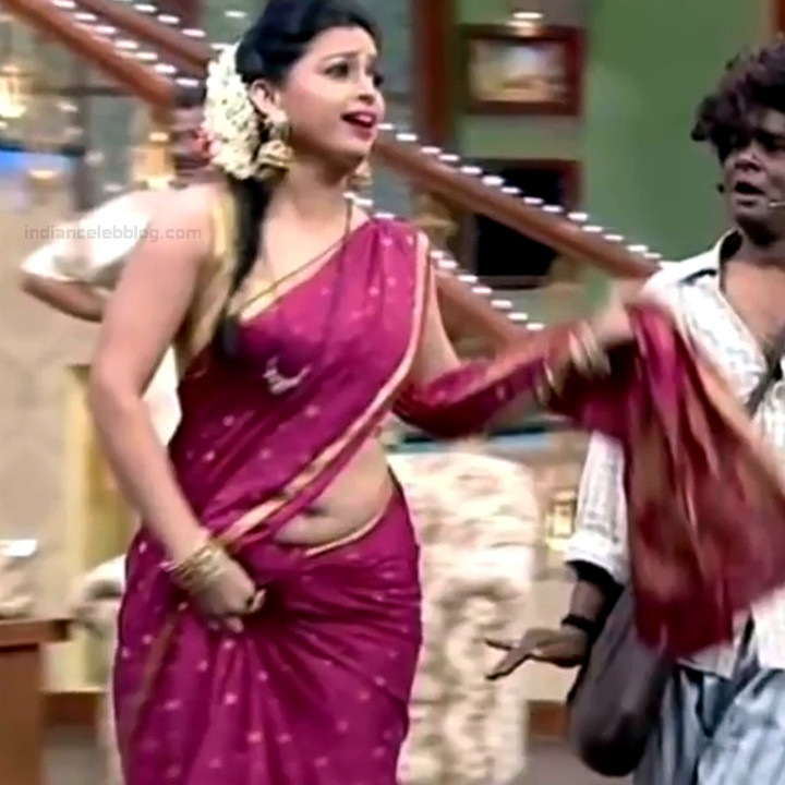 Shwetha Chengappa Kannada TV actress 16 hot saree photo