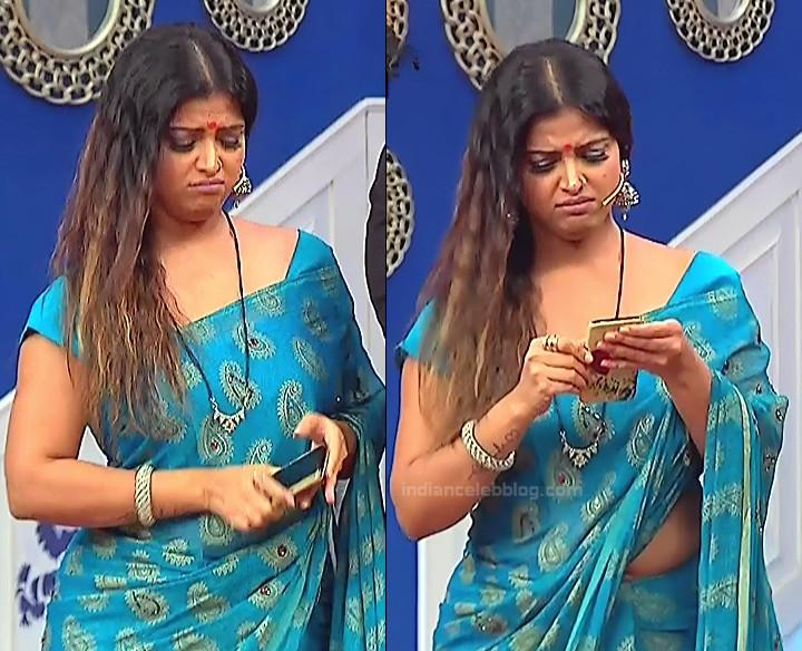 Shwetha Chengappa Kannada TV actress 3 hot saree photo