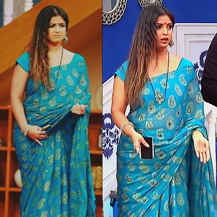 Shwetha Chengappa Kannada TV actress 4 hot saree pics