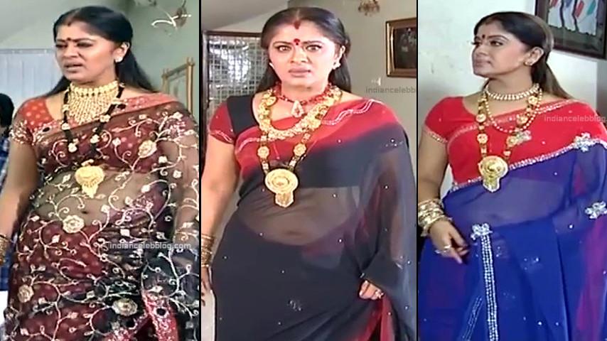 Sudha Chandran Tamil Film TV actress saree navel caps
