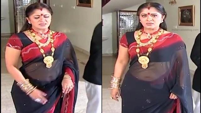 Sudha chandran Tamil TV actress PonDTS1 5 hot sari navel pics