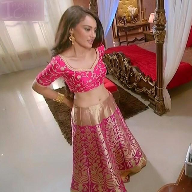 Surbhi Jyoti Hindi TV actress Naagin S1 8 hot lehenga navel show