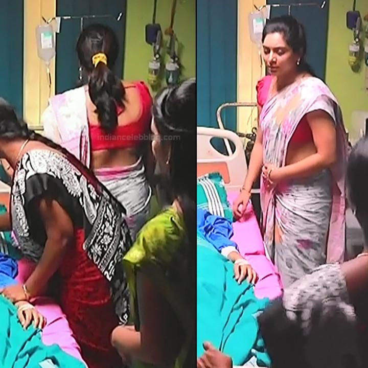 Syamantha Kiran Tamil tv actress Saravanan MS1 12 hot saree caps
